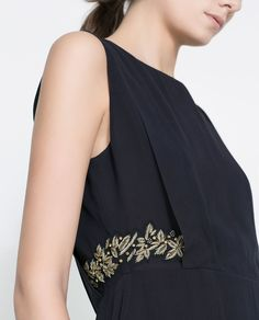 Image 4 of DRESS WITH EMBROIDERED DETAILING from Zara