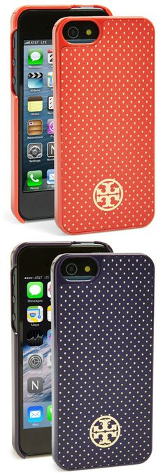 Decisions, decisions. Red or blue? | Tory Burch iPhone case