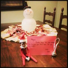 Polar Express Elf on the Shelf Ideas. Doc brought Megan a bell from Santa.