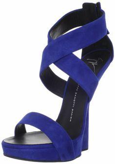Giuseppe Zanotti Women's E30246 Cros Strap Platform Wedge Sandal