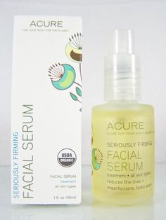 #AcureOrganics Seriously #Firming #glutenfree USDA certified #organic and #vegan facial #serum anti-aging #antiaging #antioxidant #face and #neck treatment for all #skin types with #argan oil in a 1 fl. oz./30 ml size pump bottle, brand new and unused in original manufacturer's retail protective white cardboard box packaging http://www.ebay.com/itm/NEW-ACURE-ORGANICS-SERIOUSLY-FIRMING-FACIAL-SERUM-ANTI-AGING-TREATMENT-1-fl-oz-/141388188414?pt=US_Skin_Care&hash=item20eb648afe