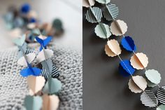 """CLOUDS """"brume"""" handmade paper garland - styling and photo ©  Mi-avril"""