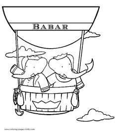 Elephants in a hot air balloon coloring page. Does anyone remember watching this cartoon growing up?