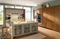 kitchen colors that go with golden maple cabinets - Google Search