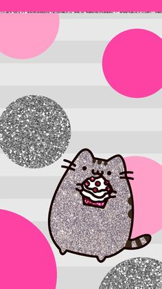 Glitter Pusheen Pusheen Stickers, Grey Tabby Cats, Pusheen Cat, Pusheen Love, Kawaii Wallpaper, Wallpaper Gatos, Cat Wallpaper, Kawaii Cat, Chibi