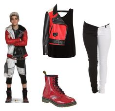 """""""descendants carlos"""" by maria-calinaa ❤ liked on Polyvore featuring Disney and Dr. Martens"""