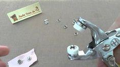 Como usar alicate para botão de pressão
