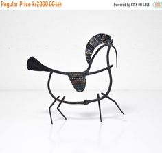 SALE Vintage Scandinavian Modernist Sculpture of a by Wohnstadt