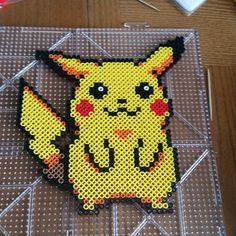 Pikachu Pokemon perler beads by itssfine
