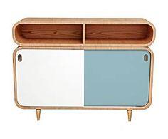 Consola de madera – azul claro