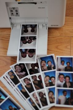 Diy wedding photo booth she uses a small smart phone picture make your own strips solutioingenieria Image collections