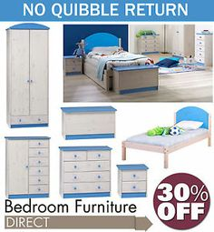 Childrens Furniture, Beds, Chest Of Drawers, Bedside Table, Wardrobe, Storage