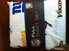 NFL 100% Cotton National Football League All Team Sheet Set (NFL) - Full Size by NFL/Northwest. $57.99. NFL 32 Team Full Sheet Set. Officially licensed NFL sheets. Set includes one flat sheet, one fitted sheet and two standard size pillow case.. Full-color woven graphics. 100% Polyester. All teams mascots represented on a white base.