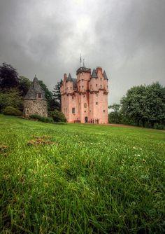 Craigivar pink scotland castle in Aberdeenshire, Scotland.