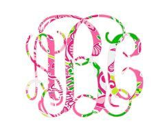 Lilly Pulitzer Inspired Car Decal Lily Preppy by TGNCreations