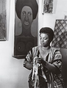 Faith Ringgold in her studio, 1969. COURTESY THE ARTIST