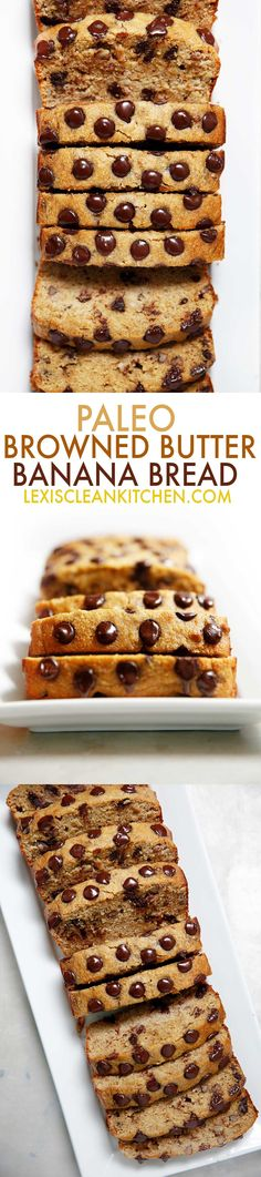Paleo Brown Butter Banana Bread   Lexi's Clean Kitchen #glutenfree #paleo