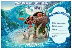 Moana Invitations – Birthday Printable