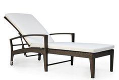 Dedon Panama Chaise, Bronze/White