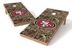 San Francisco 49ers Single Cornhole Board - Realtree Max-5® Camo