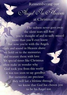 missing brother in heaven quotes | An angel in heaven at Christmas quote