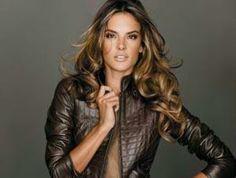 Alessandra Ambrosio fav hair, makeup and model.