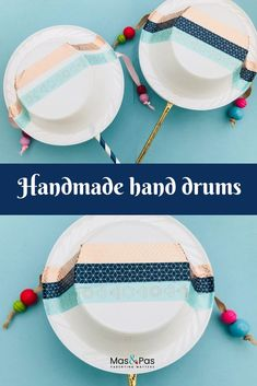 How to make your own hand drum. A quick and easy way to make a musical instrument with things you have lying about the house. Kids will love helping you make and decorate these hand drums and have loads of fun making rhythms with them too. Diy For Kids, Crafts For Kids, Big Kids, Homemade Musical Instruments, Music Instruments Diy, Drums For Kids, Instrument Craft, Diy Drums, Hand Drum