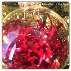 glass ornaments, kid