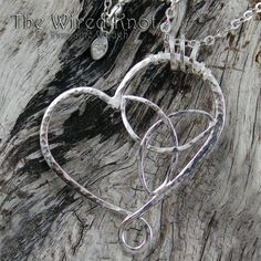 "Celtic Trinity Knot in Heart Pendant Necklace 18"" by TheWiredKnot, SOLD"