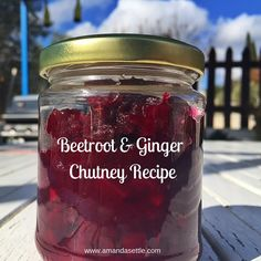 """Beetroot and Ginger Chutney: """"Get To Know"""" Olive, Feta & Ouzo — Just Beet It - Food: Veggie tables Beetroot Chutney Recipe, Ginger Chutney Recipe, Beetroot Relish, Beetroot Recipes, Beetroot Ideas, Chilli Chutney Recipes, Jam Recipes, Canning Recipes, Sauces"""