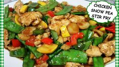 Chinese Chicken and Snow Pea Stir Fry Recipe ~ Tess Stir Fry Recipes, Soup Recipes, Cooking Recipes, Healthy Recipes, Baked Lemon Garlic Chicken, Garlic Chicken Recipes, Good Meatloaf Recipe, Best Meatloaf, Chinese Cooking Wine