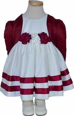 Baby #girls cream and wine bolero #dress set bridesmaids wedding 0-3 #months,  View more on the LINK: http://www.zeppy.io/product/gb/2/180760058032/