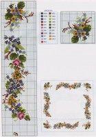 вышивка крестом,Схема вышивки,cross stitch,embroidery,Вышитая скатерть МЕЛКИЕ ЦВЕТОЧКИ