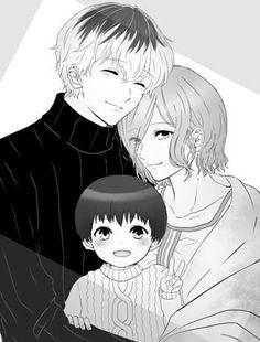 Ishida, make it happen please. Manga Tokio Ghoul, Tokyo Ghoul Manga, Manga Art, Manga Anime, Touka Kaneki, Tokyo Ghoul Wallpapers, Ken Tokyo Ghoul, Family Drawing, Fanart