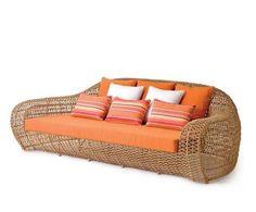 contemporary rattan sofa BALOU Kenneth Cobonpue