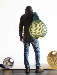 Knitted Lamps by Ariel Zuckerman and Oded Sapir