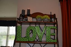 pink green black and white bridal shower