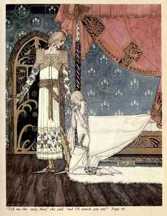 Kay Nielsen's Stunning 1914 Scandinavian Fairy Tale Illustrations. Haunting whimsy from the Golden Age of illustration. Art And Illustration, Old Illustrations, Fairy Tale Illustrations, Kay Nielsen, Fantasy Kunst, Fantasy Art, Illustrator, East Of The Sun, Fairytale Art