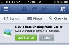 When you turn on #Facebook photo syncing, you can easily share your #mobile photos on your timeline from your desktop.