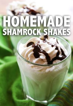 Homemade Shamrock Shakes   Make your OWN Shamrock Shakes! You likely have all of the ingredients in your kitchen right now! Great way to celebrate St. Patrick's Day!