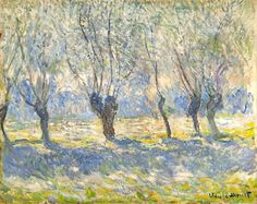 Claude Monet, Willows in Haze, Giverny on ArtStack #claude-monet #art