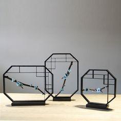 设计师装饰品推荐欧式新古典新中式软装饰品梅花摆件铁艺工艺品-淘宝网