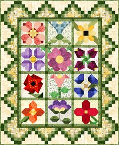 My Flower Patch Quilt Top complete set of 12 blocks, the border and finishing instructions $62.40 on Pam's Club at http://pamsclub.com/index.php?category_id=27page=shop.product_detailsproduct_id=327Itemid=71option=com_virtuemartvmcchk=1Itemid=71