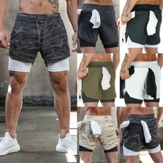 Men's 2 in 1 with Phone Pocket Gym Running Shorts Sports Quick Dry Training Mens Gym Shorts, Nike Running Shorts, Man Dressing Style, Beach Casual, Under Pants, Shorts With Tights, Sport Shorts, Men Summer, Summer Beach