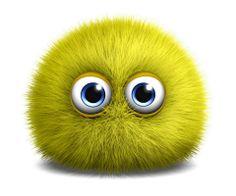 Yellow furry monster