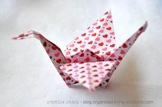 Folding origami cranes Origami Cranes, Origami Paper, Craft Tutorials, Korea, Bucket, Paper Crafts, Organization, Logos, Learning