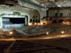 abandoned theater.  This place must have been amazing in its day