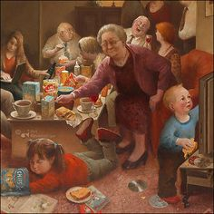 Art Card Bloated by artist Marius van Dokkum. Art Revisited online store for affordable Art! Art calendars, Art books and Giclées. Illustrations, Illustration Art, Dutch Painters, Dutch Artists, Norman Rockwell, Pablo Picasso, Funny Art, Art Reproductions, Art Journals