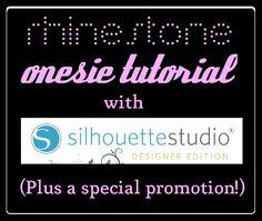 Rhinestone Onesie Tutorial & Silhouette Promotion via The Thinking Closet