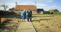 This Elderly Couple Took The Same Photo Every Season. It looks dry and empty because it has just been planted.